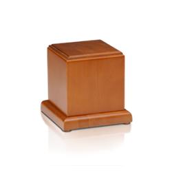 Urna Cubo Nobre em Carvalho ou Cerejeira R$ 280,00