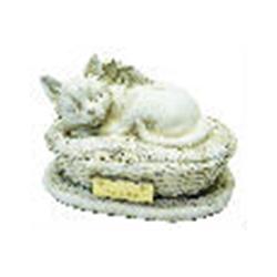 Urna Cesto Felino Branco R$ 160,00